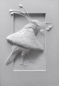 Paper sculpture.......Calvin Nicholls