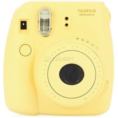 Fujifilm INSTAX MINI 8 Yellow ❤ liked on Polyvore featuring fillers, camera, accessories, yellow and tech