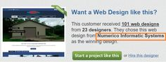 Again Numeirco got awarded as best design of web template...