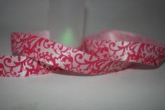 7 Yards 7/8 Pink Damask Polyester Ribbon For by Ribbonology, $8.00