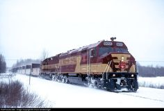 RailPictures.Net Photo: WC 6655 Wisconsin Central EMD F45 at Trout Lake, Michigan by Chuck Schwesinger