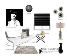 """Glam Rock'"" by dianefantasy ❤ liked on Polyvore featuring interior, interiors, interior design, home, home decor, interior decorating, Redi Shade, Hermès, ferm LIVING and Nuevo"