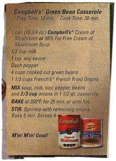 Side - Campbell's Green Bean Casserole BX0022 | BX0022 Green… | Flickr