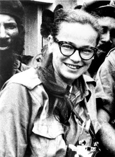 Dickey Chapelle (March 14, 1919–November 4, 1965) was on patrol with a Marine platoon in Viet Nam when she was killed by a booby trap. She was the first war correspondent to be killed in Vietnam, as well as the first American female reporter to be killed in action.