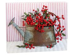 Red Berries Watering Can