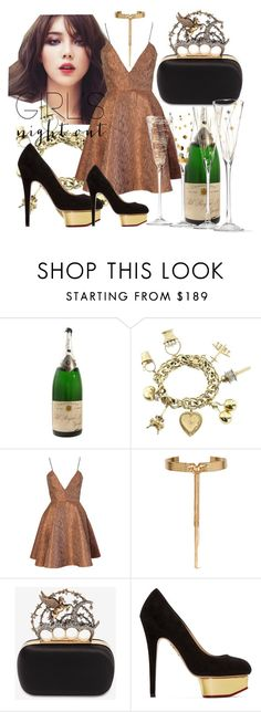 """night out 2"" by domini-reyes ❤ liked on Polyvore featuring Joana Almagro, Eddie Borgo, Alexander McQueen, Charlotte Olympia and girlsnightout"