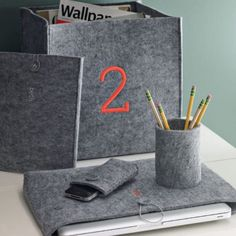 Felt Gadget Accessories ($6–$12): A forever-chic co-worker requires accessories just as sharp. Keep them looking good with a felt phone, iPad, or laptop cover that can even be monogrammed.