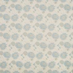 Kimono Duck Egg Floral Cotton/Linen Fabric