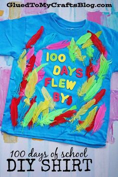 100 Days of School Flew By - DIY T-shirt - perfect for kids and teachers! Celebrate the half way point of the school year with our easy DIY 100 Days of School Flew By T-shirt! Perfect for kids and teachers to wear on the big day!