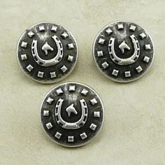 Horseshoe Country Western Buttons Small by artisticrenderings (Craft Supplies & Tools, Sewing & Needlecraft Supplies, Buttons & Fasteners, Country Western, Southwestern, Horseshoe, Sewing, jewelry clasp, knit crochet, bead button, for leather bracelet, horse shoe, cowboy cowgirl, rodeo ranch hand, horse racing, farrier blacksmith)