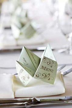origami menu