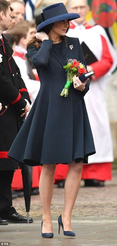 Bride-to-be Meghan Markle today told crowds that she is 'very excited' about her wedding, and attended her first royal engagement with the Queen, at Westminster Abbey.