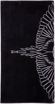 Marcelo Burlon County of Milan: Black Maipu Towel | SSENSE