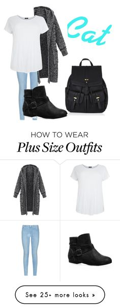 """""""Cat"""" by gigicr on Polyvore featuring 7 For All Mankind, Avenue and Accessorize"""