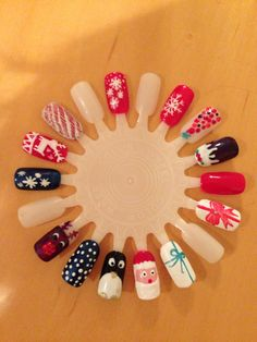 Christmas nails different designs with gel