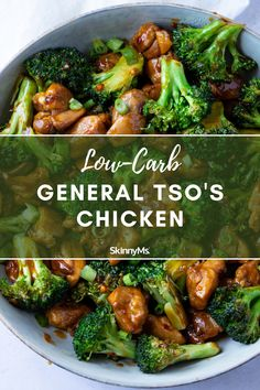Low Carb General Tso's Chicken Clean Eating Slow Cooker Recipe, Clean Eating Recipes, Clean Eating Snacks, Healthy Eating, Low Carb Dinner Recipes, Keto Recipes, Cooking Recipes, Healthy Recipes, Keto Chinese Food
