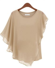 Gender: Women Sleeve Style: Batwing Sleeve Style: Casual Fabric Type: Chiffon Material: Polyester Collar: O-Neck Color Style: Natural Color Shipping: FREE - Worldwide!