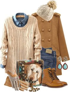 """""""Walk the Dog Winter Style"""" by leegal57 ❤ liked on Polyvore"""