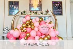 Burning Up If there's a fireplace *that's not being lit!* then it needs to be covered in balloons. Bubblegum Balloons, Balloon Installation, Totally Awesome, Bubble Gum, Blog, Blogging, Chewing Gum, Gumball