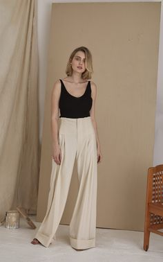 Loic Ribbed Bamboo Top by St. Fashion Brand, Fashion Design, Daily Fashion, Women's Fashion, Everyday Outfits, Minimalist Fashion, Editorial Fashion, Summer Outfits, Women Wear