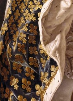 Louis XV was a useless king whose only legacy is dying of small pox. - He has a fabulous sense of style. Louis XV by Louis Michel van Loo Black And Gold Aesthetic, Motifs Textiles, Hieronymus Bosch, Classic Paintings, Classical Art, Detail Art, Historical Costume, Renaissance Art, Fabric Painting