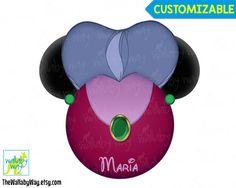 Lady Tremaine Cinderella's Stepmother Mickey Head Disney Printable Iron On Transfer or Use as Clip Art - DIY Disney Shirt Disney Villains by TheWallabyWay on Etsy