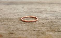 Round Copper Ring Stacking Ring Copper Stacker by TesoroDelSol
