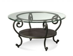 Round Wrought Iron And Glass Coffee Tables