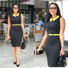 50 African Office outfits to try on - Ankara Lovers Office Wear Women Work Outfits, Classy Work Outfits, Classy Dress, Work Attire, Chic Outfits, Corporate Attire Women, Corporate Fashion, Business Casual Attire, African Fashion Ankara