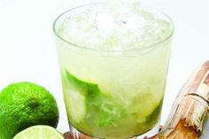 Caipirinha - sliced limes, sugar, crushed ice, cachaca (Brazilian sugar cane rum). Delicious!