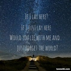 """Favorite song!!!-- #LyricArt for """"Chasing Cars"""" by Snow Patrol"""