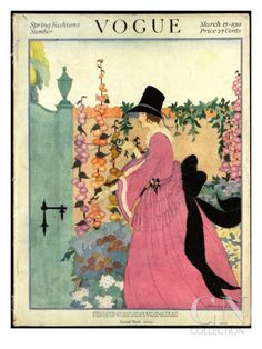 Vogue Cover, March 1918 by Helen Dryden - The Condé Nast Collection