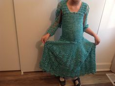 Crochet dress, girl's size 6 by Mywaycrochet on Etsy