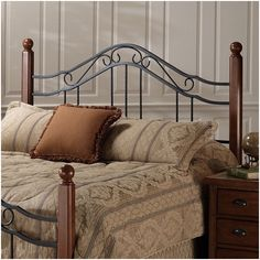 Found it at Wayfair - Madison Wood and Metal Headboard