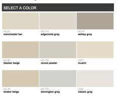 I like Manchester tan, muslin, bleeker beige