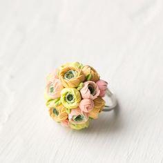 Pastel jewelry pastel wedding pastel ring by GentleDecisions, $25.00