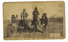 Geronimo & Natches on Horse Back, C. S. Fly, Tombstone, Arizona Territory, Cabinet Card ca 1886.