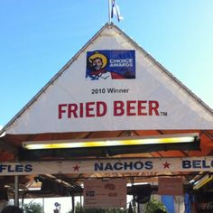 Discovered by Reagan Brown: Only in Texas! Yes it's possible: Fried Beer at the State Fair Of Texas in Dallas.