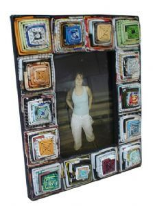 Recycled Magazine Coiled Photo Frame - 7x5