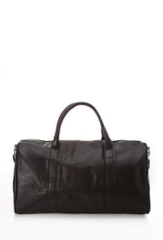 Faux Leather Duffle Bag | FOREVER 21 - 1000055555 Nice in Black or White $30