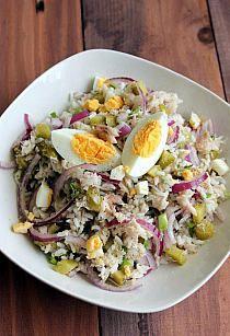 niebo na talerzu: Sałatka z brokułami i serem feta Skł… na Stylowi.pl Tasty Dishes, Cobb Salad, Feta, Potato Salad, Salads, Potatoes, Eggs, Breakfast, Ethnic Recipes