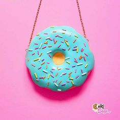 There's nothing like a teal glazed Donut Purse (custom order) and it has a matching necklace in the making. Donut Bag, Blue Icing, Donut Glaze, Rainbow Sprinkles, Matching Necklaces, Color Photography, Lolita Fashion, Clutch Purse, I Got This