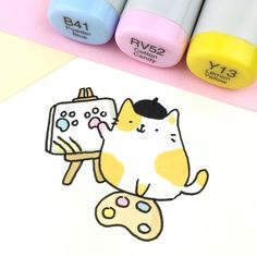 """1,552 Likes, 5 Comments - ⭐️KiraKiraDoodles (@kirakiradoodles) on Instagram: """"Picatto  • • #kitty #doodle #artist #cats #catdoodle #copicmarkers #copicsketch #かわいい #可愛い…"""""""