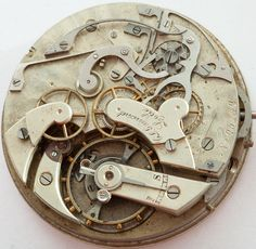 Antique Swiss CL Guinand Locle Split Seconds Chronograph Pocket Watch Movement | eBay