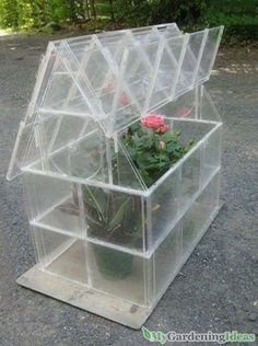 Using the CD cases for a DIY glass house