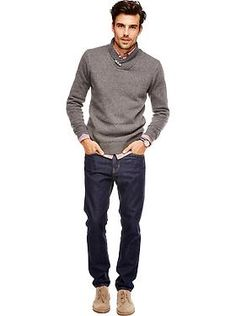 A fall look he'll love and wear over and over again.   Old Navy