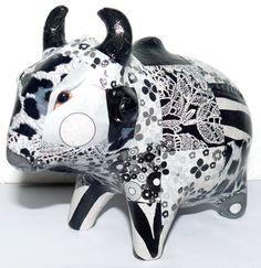 Black and white cow #Cow #PhnomPenh #MadeinCambodia #SilkandPepper #Handmade