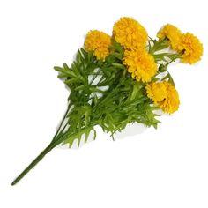 GoodGoodsThailand, Thai Artificial Yellow Marigold Bunch, Artificial flowers, Marigold flowers, Yellow Flowers, Marigold Yellow, Calendula officinalis,(9 stem per 1 case) -- Huge discounts available now! : Artificial Plants Decor