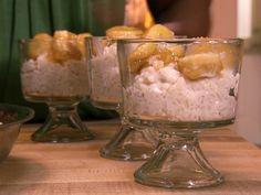Mama Callie's Rice Pudding from FoodNetwork.com (this one has a caramelized banana topping)