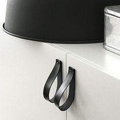 Leather Pulls - DIY Drawer Pulls - 10 Cool Cabinet Hardware Ideas - Bob Vila - Bob Vila